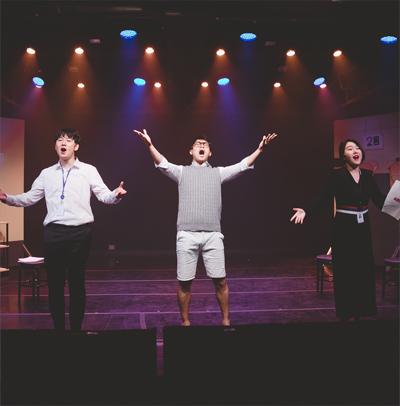 성평등 뮤지컬 오마이드림 공연 중인 모습