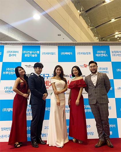 히스토리 2 대구경북중소기업대축전 브리즈 축하공연 중인 모습