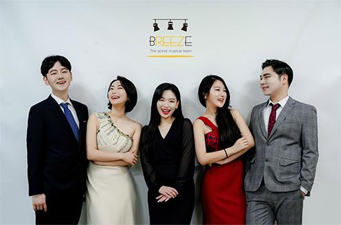 히스토리 3 브리즈 배우들 단체 프로필 사진 촬영 모습
